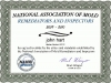 National Association of Mold Remediators and Inspections Certificate.