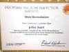 Certified Mold Companies Whitman MA - JH Cleaning - award