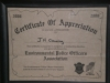 Certificate of Appreciation.