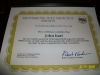 Professional Home Inspection Institute Certificate for Mold Remediation.