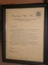 Presidential Certificate.